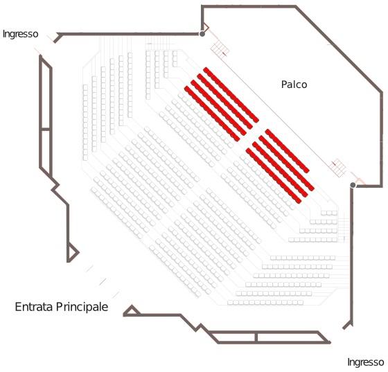 planimetria palladio fiera di Vicenza
